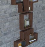 Set 5 rafturi din lemn Dor Homs, maro