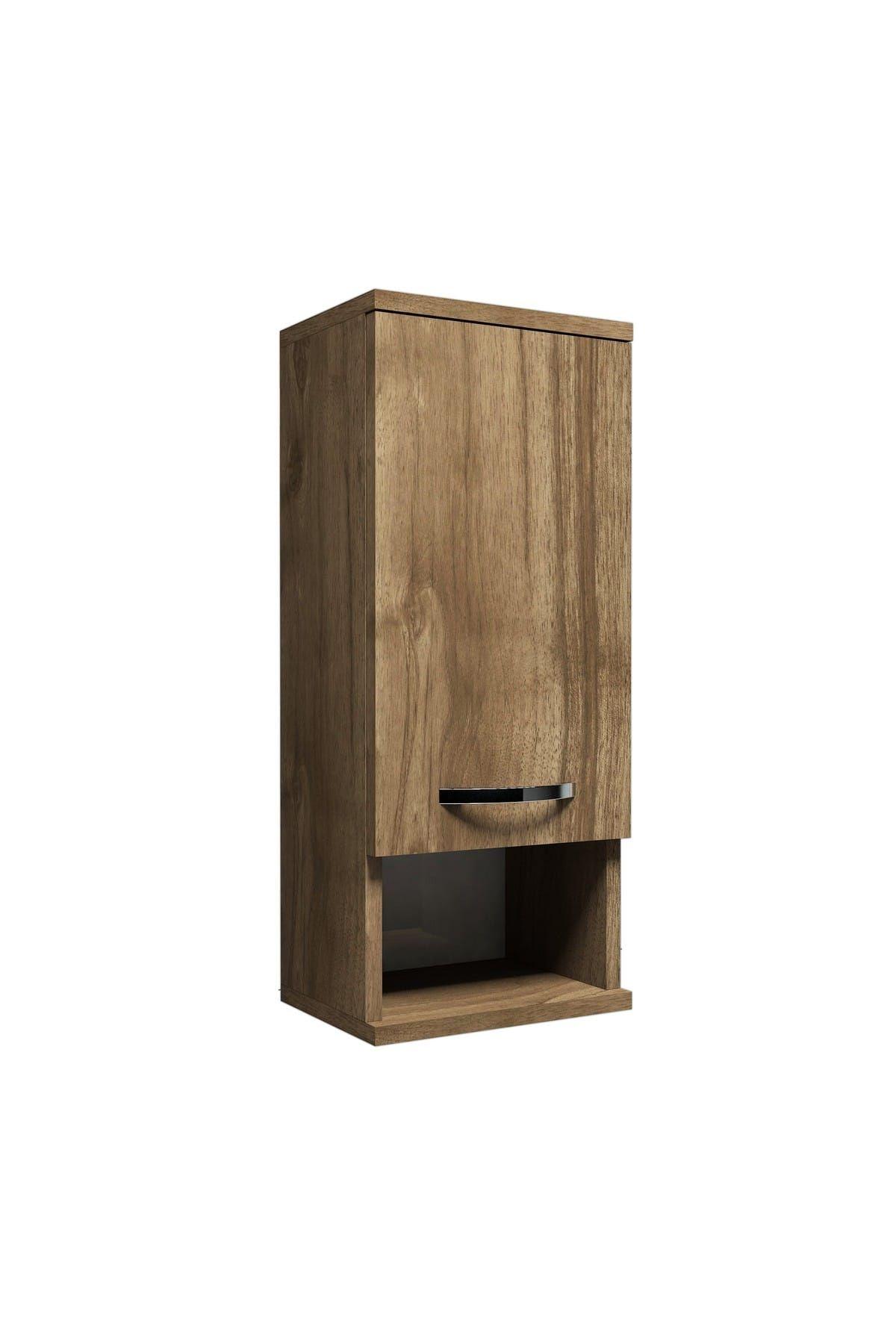 Dulap pentru baie, Mis Homs, nuc, 71 x 30 x 22 cm, PAL 18 mm