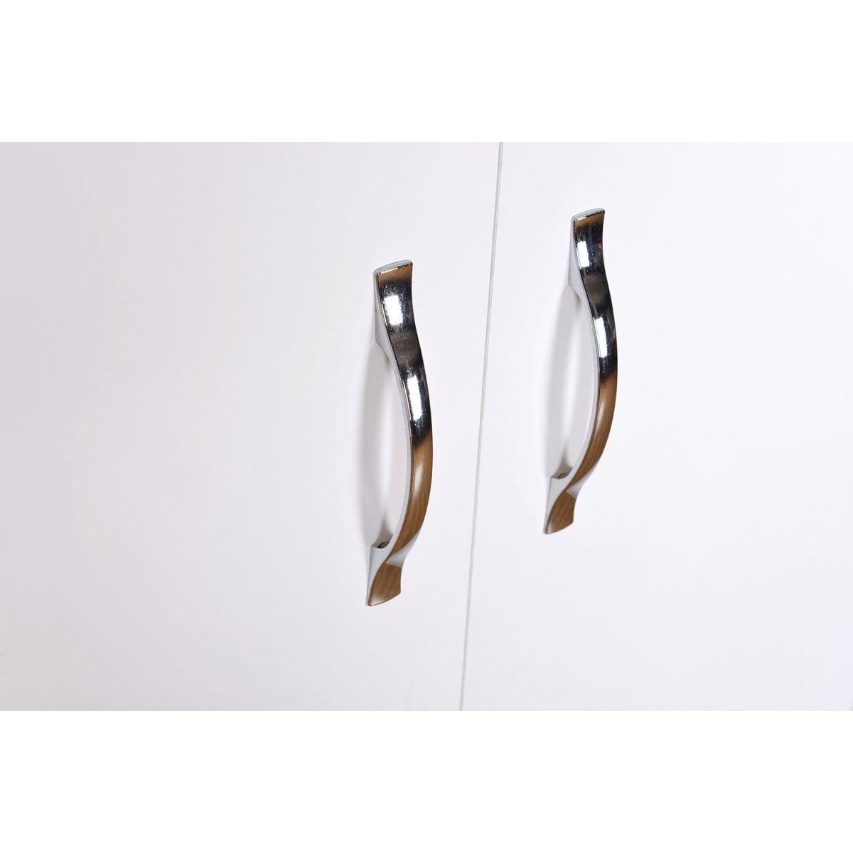 Resigilat: Dulap din pal, Beny Homs, alb, 140 x 60 x 35 cm