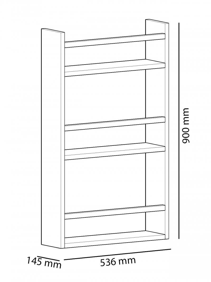 Raft multifunctional Leon Homs, 53.6 x 90 x 14.5 cm , alb