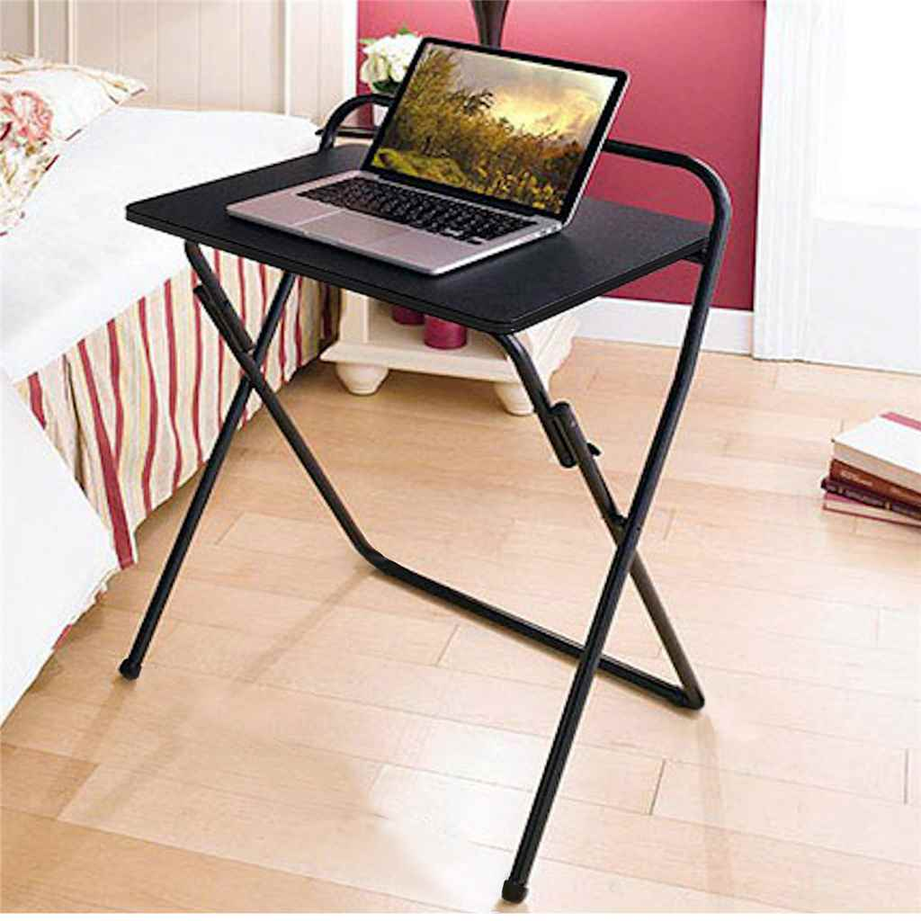 Masuta laptop pliambila, Katalina Homs, negru, 75 x 60 x 40 cm, metal/PAL