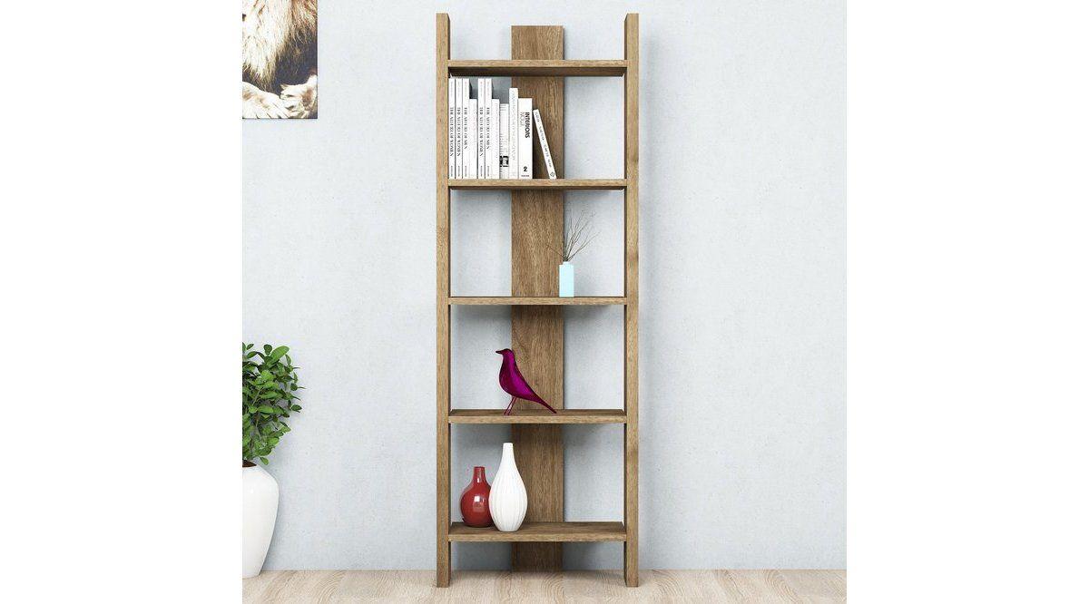 Biblioteca/etajera carti, Virba Homs, nuc, 150 x 52 x 22 cm, PAL