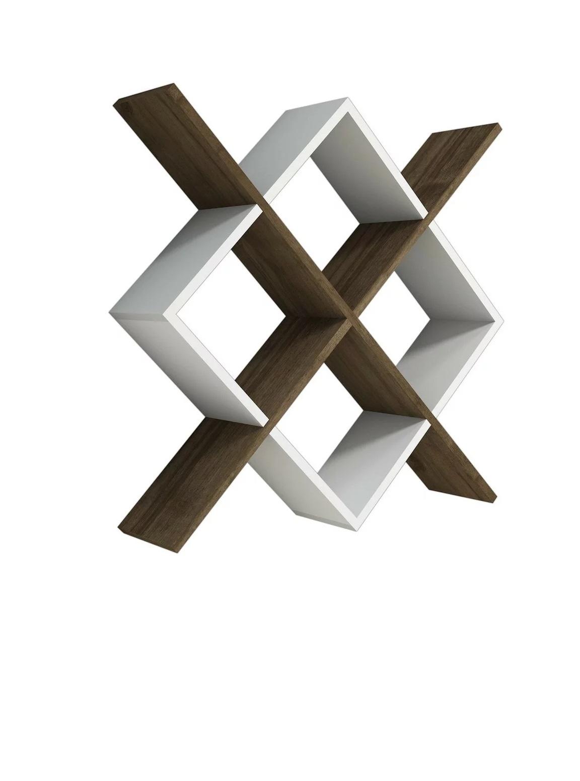 Raft de perete, Simina Homs, 79 x 79 x 20 cm, alb/nuc