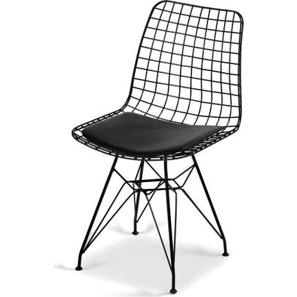 Scaun metal, Dining Homs, negru 80 x 42 x 45 cm