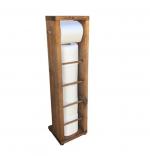 Stand suport toaleta, Estetik Homs, 65x15 cm, lemn natur