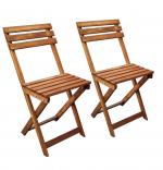 Set masa cu doua scaune, Bistro Homs, Natur, 50x73x50, 38x27x43/79 cm, Lemn
