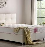 Baza de pat cu lada si tablie tapitata Hyper Soft Homs 180x 200 cm