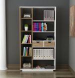 Biblioteca, Luna Homs, 80.4 x 188.6 x 25 cm, alb/nuc