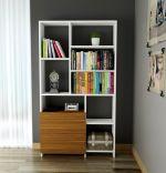 Biblioteca, Tulin Homs, 90 x 161.8 x 24 cm, alb/nuc