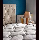 Baza de pat cu tablie si saltea Cashmere Homs 180×200 cm