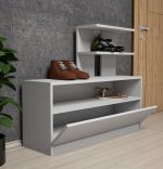 Dulap pentru pantofi, Airy Homs, alb, 100 x 81 x 29.6 cm, PAL
