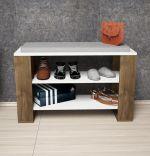 Pantofar tip bancuta, Dore Homs, alb/nuc, 90 x 55 x 33 cm, PAL 18 mm