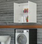 Dulap din pal, Makina Homs, alb, 60 x 35 x 75 cm