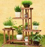 Stand flori, Homs Garden 80, natur 95 x 95 x 25 cm, natur