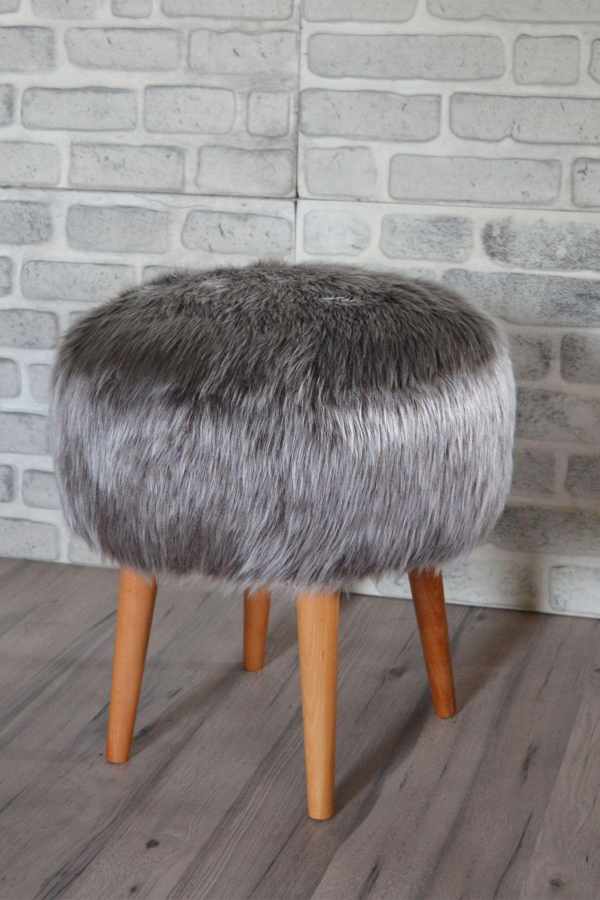 Taburet rotund blana Dulce Homs 42 x 45 x 42 cm, gri