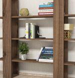 Biblioteca/ raft pentru carti, Ada Homs, nuc, 124 x 75 x 43 cm, PAL 18 mm