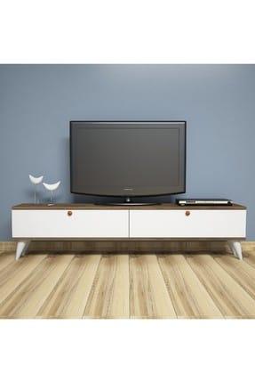 Comoda TV, Paris Homs, nuc/alb, 35 x 160 x 25 cm, PAL