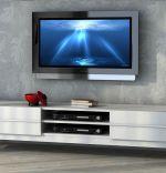 COMODA TV DIN PAL, NEW RIGA HOMS, ALB, 180 X 43 X 37.5 CM