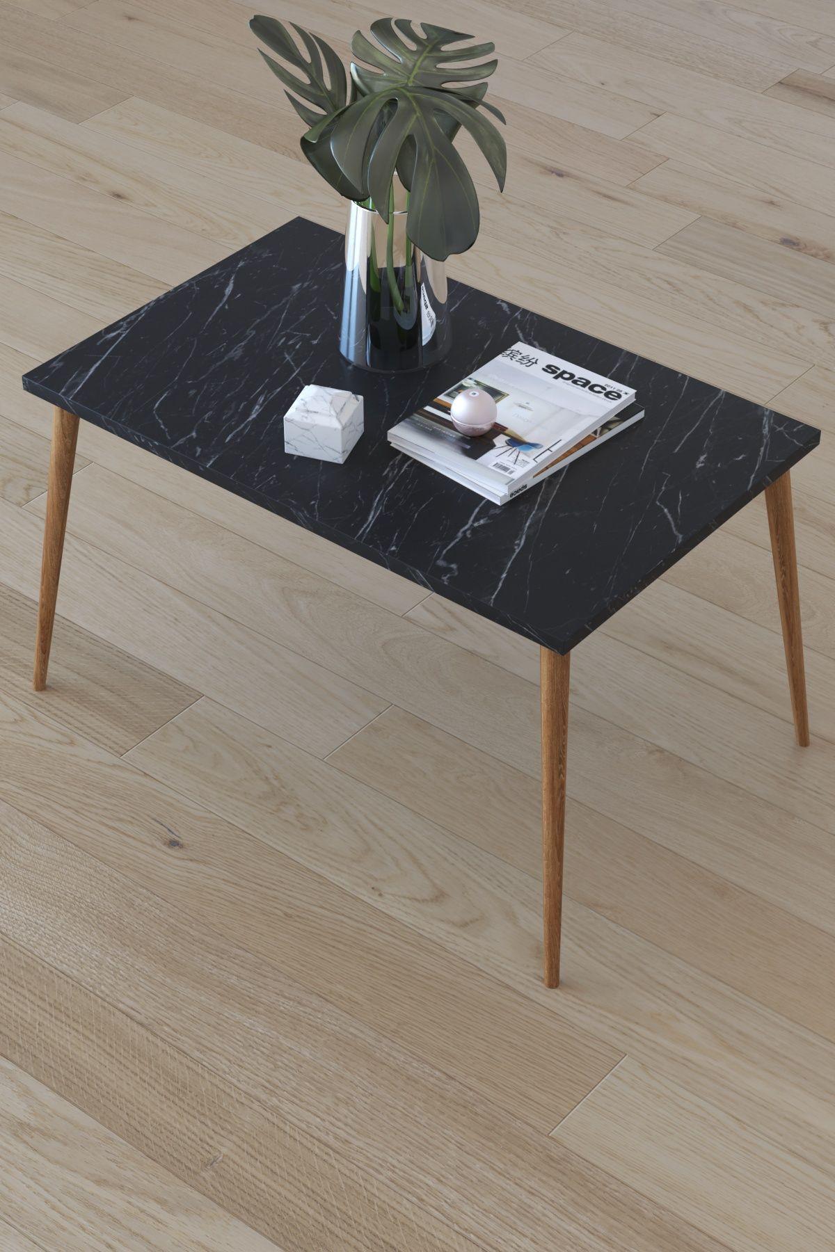Masa de cafea Paco Homs72 x 45 x 42 cm, Negru marmorat