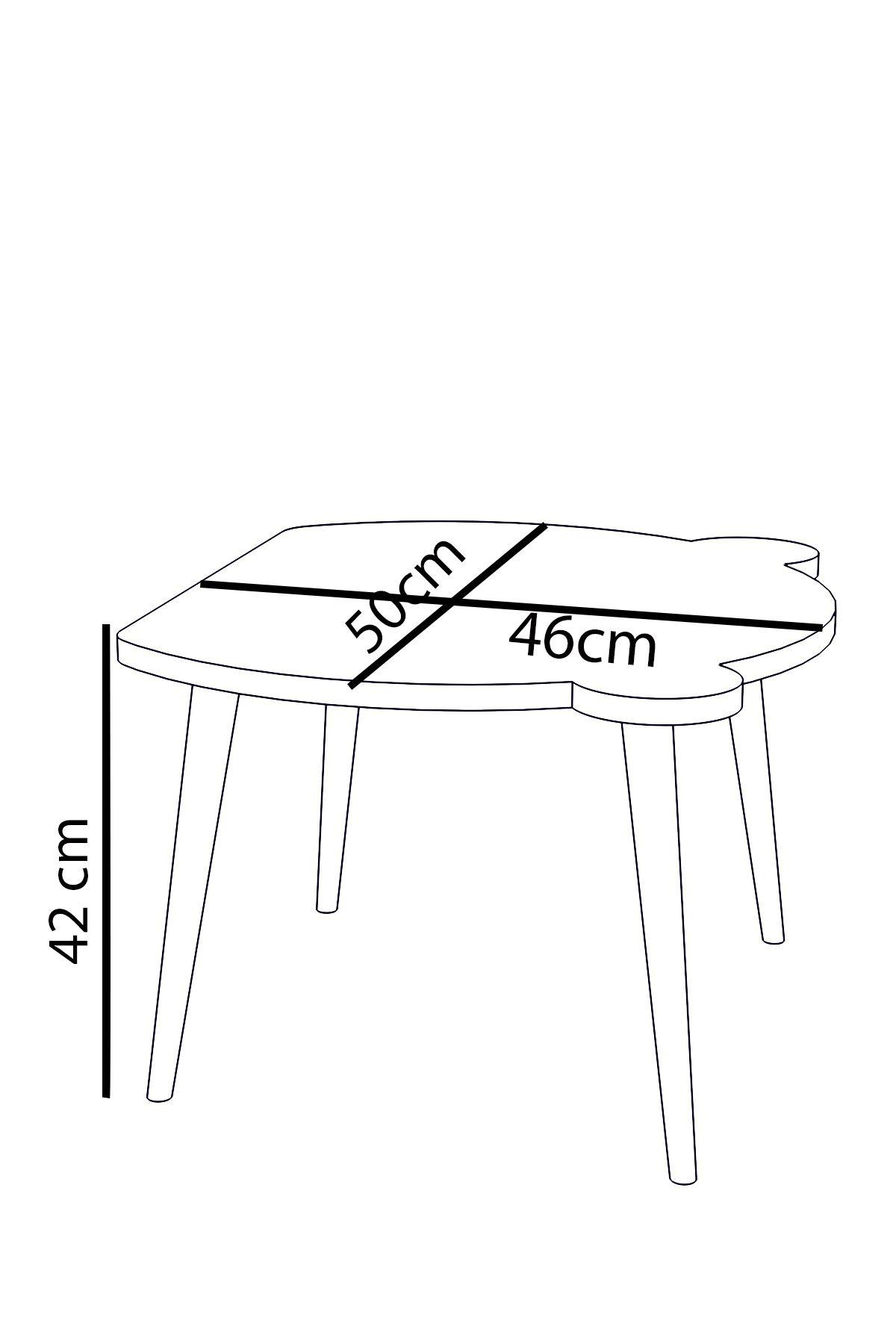 Set masa+ 1 scaun pentru copii Panda Homs,Alb