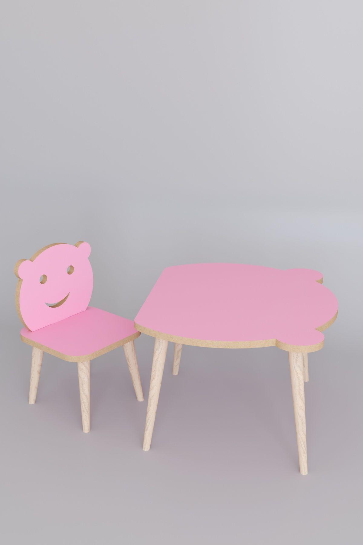 Set masa+ 1 scaun pentru copii Panda Homs,Roz