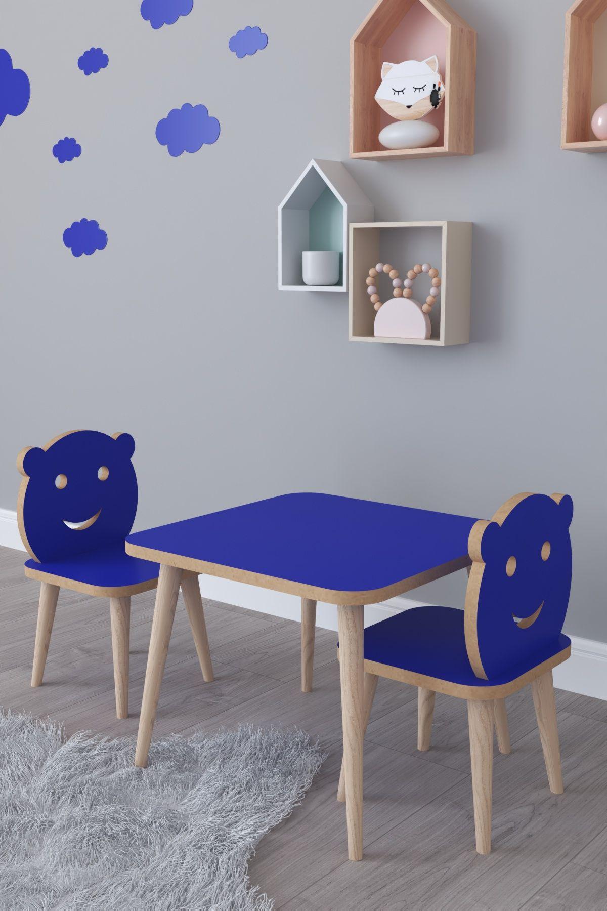 Set masa+ 2 scaune pentru copii Bambi Homs albastru
