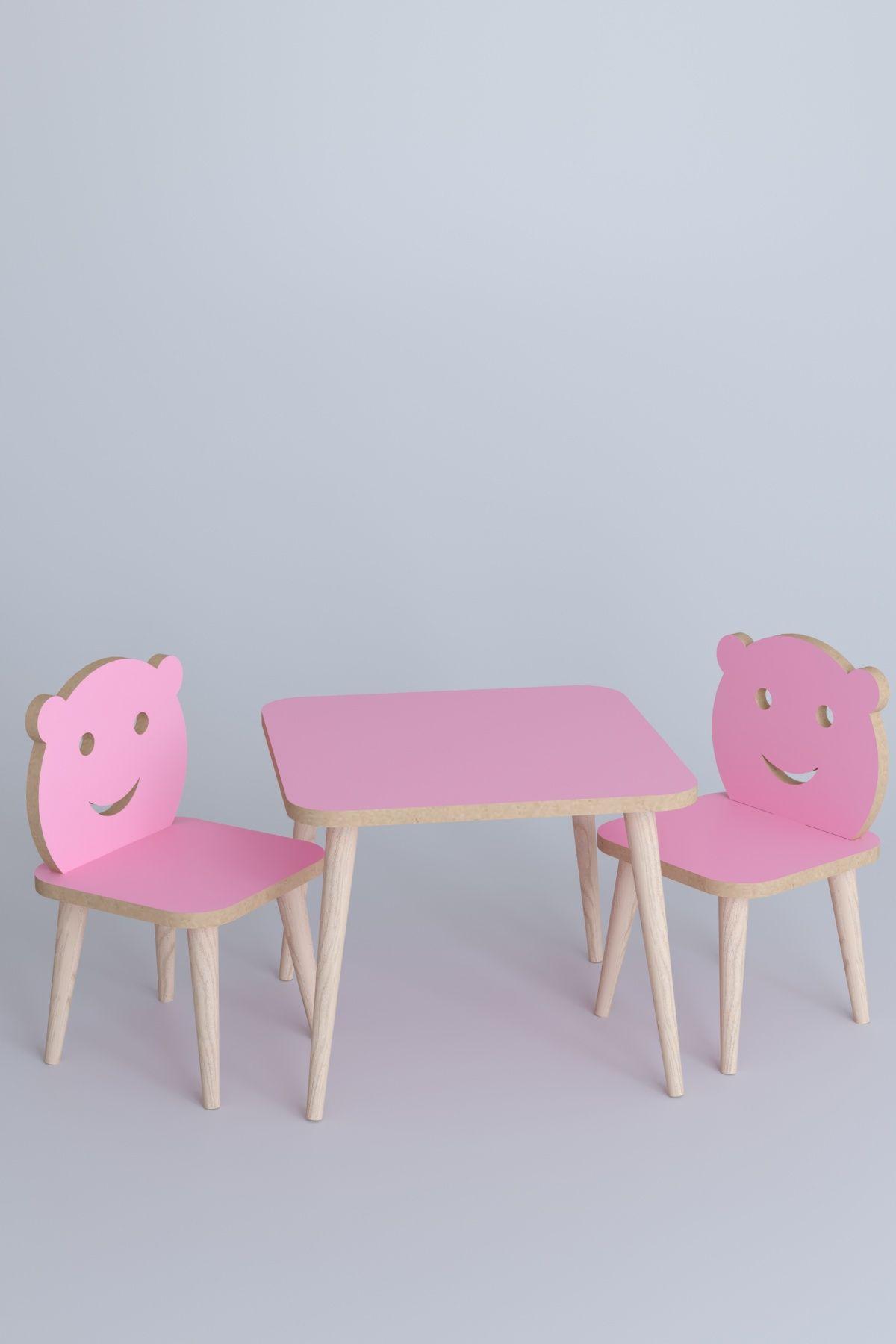 Set masa+ 2 scaune pentru copii Bambi Homs roz