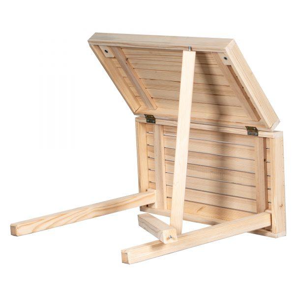 Masa picnic pliabila din lemn Homs 70 x 68 cm