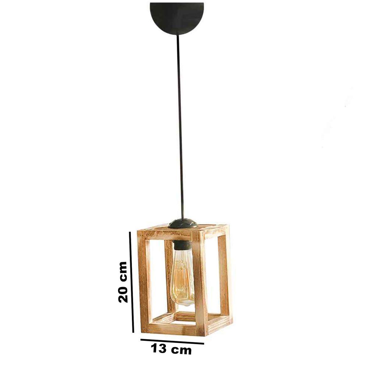 Pendul lemn decoratif 20x13x13 cm