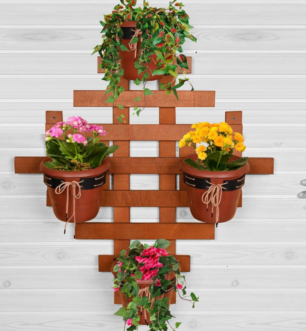 Raft flori Barca Homs 82 X 72 X 8 cm, maro