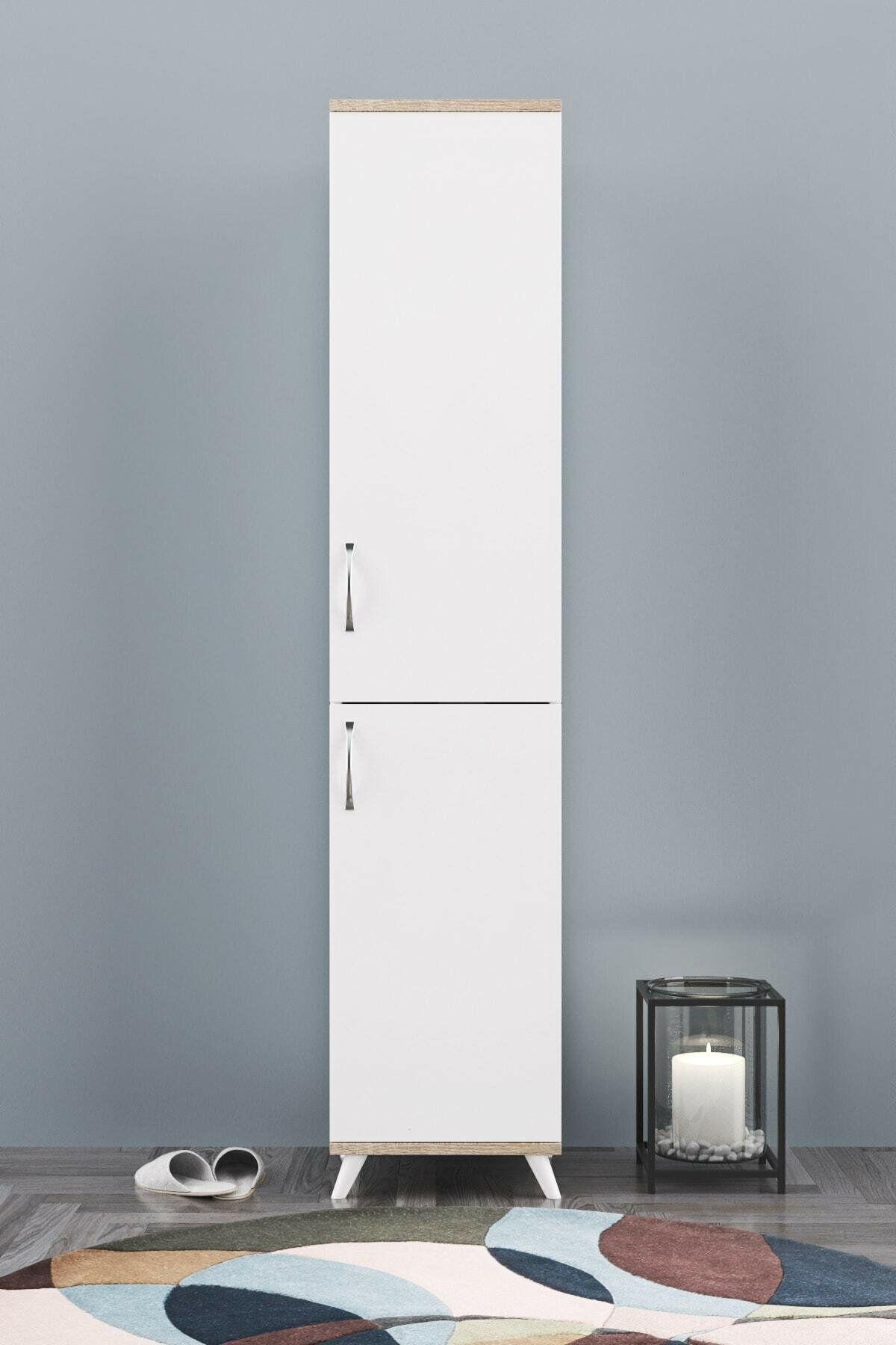 Dulap baia, 2 usi Homs, alb-nuc, 180 x 40 x 38 cm,30144