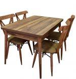Set masa cu 4 scaune bucatarie RealHoms120 x 80  x 72 cm Nuc