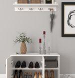 Cuier cu pantofar hol Royal Homs 90 x 33 x 52,5 cm Alb
